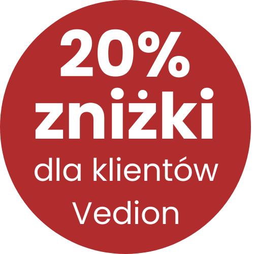20% zniżki dla klientów Vedion